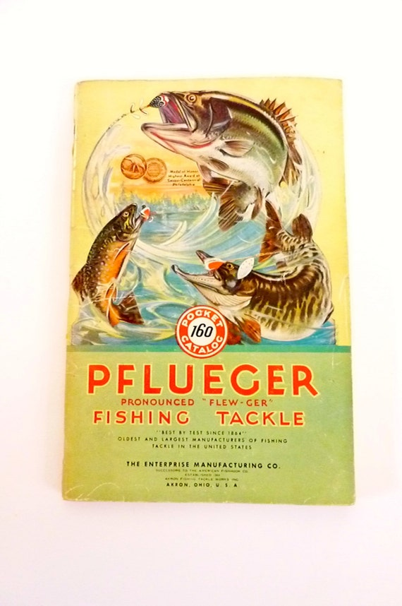 Vintage Pflueger Pocket Catalog 160 - 1940's Fishing paraphernalia - Angler / Sports Collector / Fishing Tackler Booklet