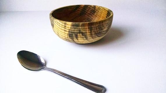 Small handmade bowl, made from Ponderosa Pine with Walnut foot