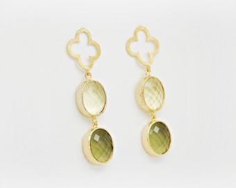 Lime Clover Earrings