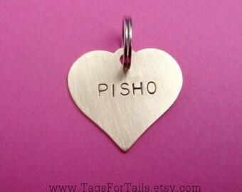 Heart Key chain -  Handmade Artisan keychain with short quote