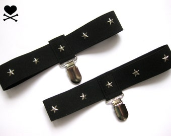 1 pair Sock garter harness stars