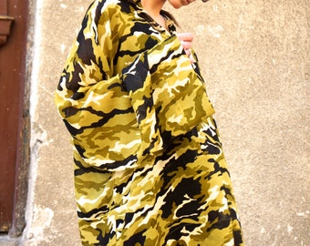 SS/15 Military  Loose  Shirt / Asymmetric shirt / Oversize Summer - Spring  top by AAKASHA A11180