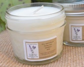 4oz OR 8oz Soy Candle in a Quilted Jar, Many Scents to Choose From!  Suitable for Massage!  With or Without Silver Leaf Lid
