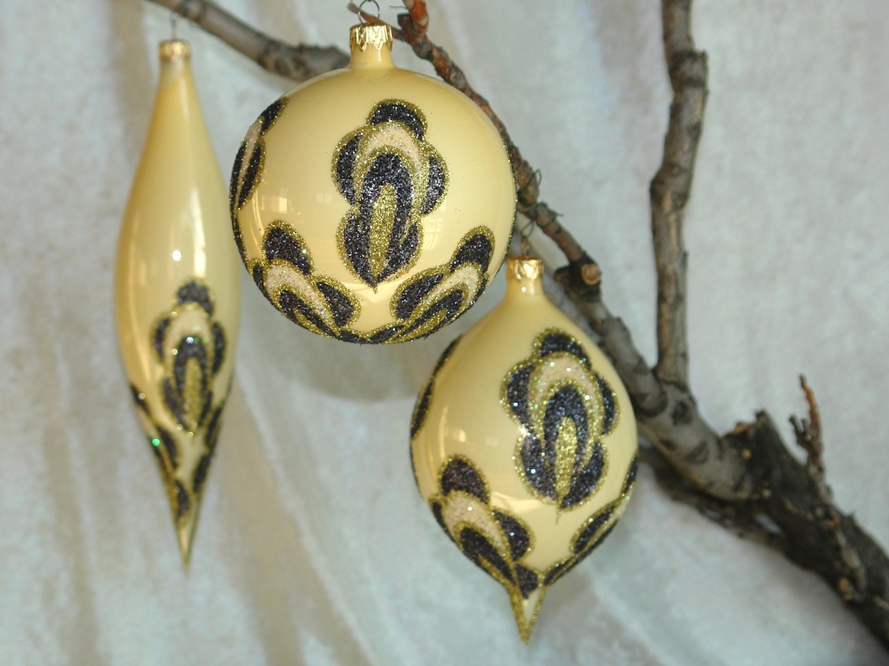 Christmas ornaments hand painted ornament glass ball by