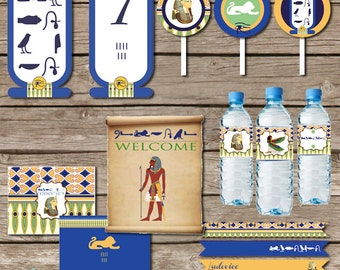 Egypt Party Printable KIT - Tut, Cleopatra Party - walk like an egyptian - Digital File - Printable Party