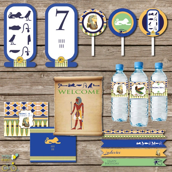 Egypt Party Printable KIT Tut Cleopatra Party Walk Like