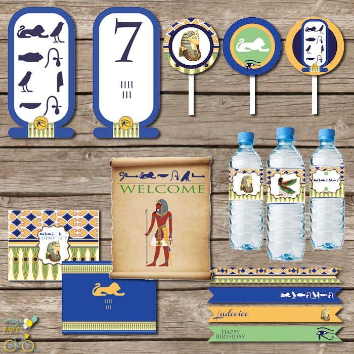 Egypt Party Printable KIT Tut Cleopatra Party By