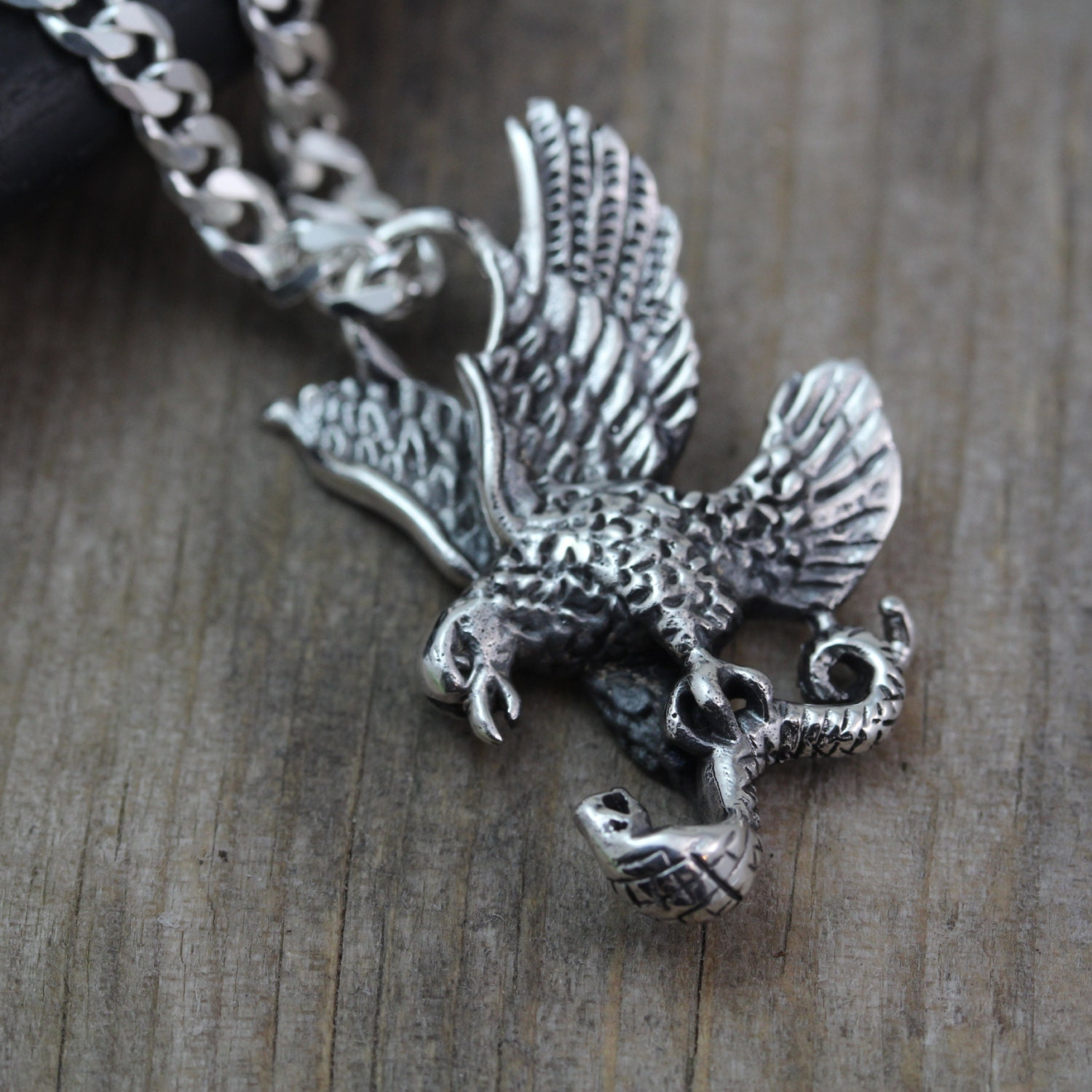 Sterling Silver Eagle Necklace Mens Necklace By Lifeofsilver. White Gold Band Rings. Channel Set Wedding Rings. Yin Yang Pendant. Nut Necklace. 18kt Gold Anklet. Light Emerald. Customized Chains. Spinel Rings