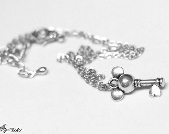 Keyblade necklace etsy kingdom hearts mickey mouse inspired keyblade necklace aloadofball Image collections