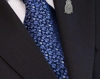 Shih Tzu brooch - sterling silver.