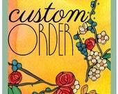 Custom order. 10 dragonfly Greeting cards for wackycake.