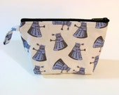 LIMITED SUPPLY - Dalek Make Up Bag - Doctor Who - Accessory - Cosmetic Bag - Gift