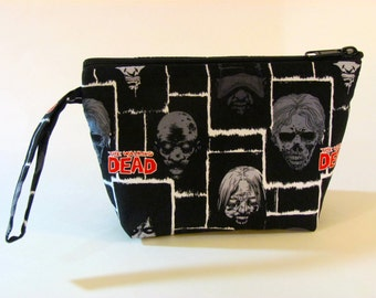 The Walkers Make Up Bag - The Walking Dead - Accessory - Cosmetic Bag - Zippered Pouch