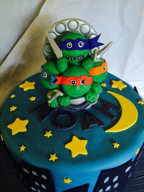 Items similar to Teenage Mutant Ninja Turtle Fondant Cake ...