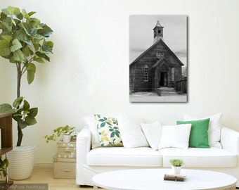 Photograph of a Catholic Church in Bodie, California - Black and White