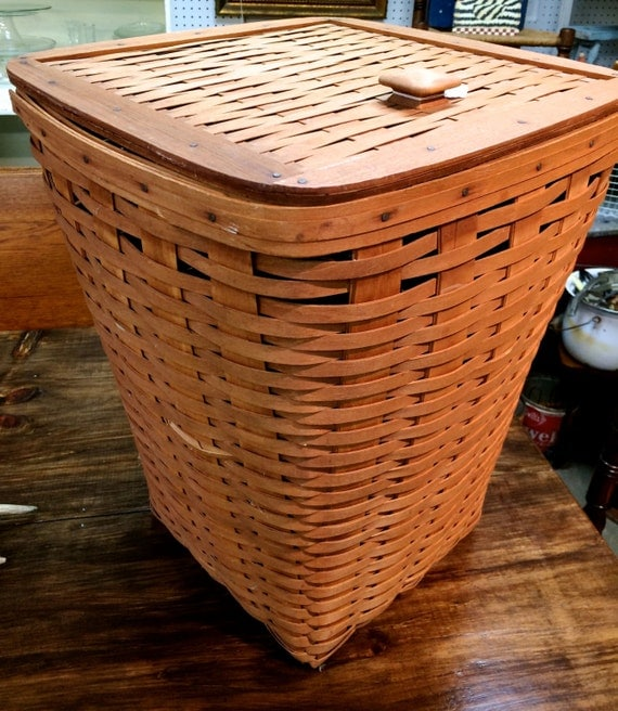 Longaberger Laundry Basket 1988 Tall With Lid by ...