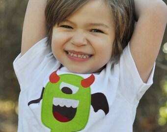 Green monster t-shirt.