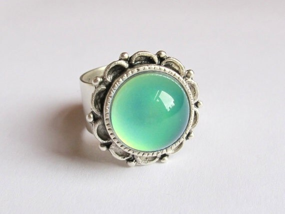 mood ring silver plated 13 mm high quality mood by