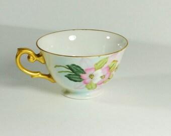 1952 Hand-Painted Porcelain Tea Cup