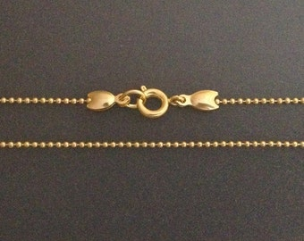 Gold Filled necklaces chain ball you choose 16 18 20 22 24 26 28 30inch - finished yellow gold necklace - dainty long necklace ready to wear