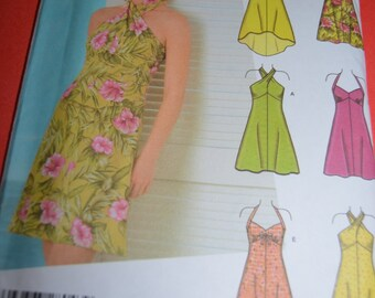 Simplicity 4560 Misses Dress in Two Lengths with Bodice Variations Sewing Pattern - UNCUT - Jr Sizing  11/12 - 15/16