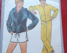 Vintage Simplicity Sewing Pattern 8360 Mens Size 38 - 40 (Medium) Unlined Jacket with or without Hood, Pants and Shorts