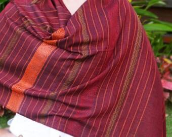 Red Cotton Scarf, Red Silk Scarf, Red Silk Shawl, Cotton Scarf, Cotton Shawl, Handwoven Scarf, Boho Scarf, Hippie Scarf, Gipsy Scarf, Hippie
