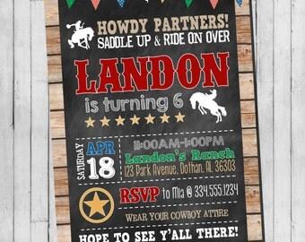 Cowboy Western Birthday Invitation | Boy Cowboy Birthday Invitation | Western Birthday Inviation | Custom Digital Invitation