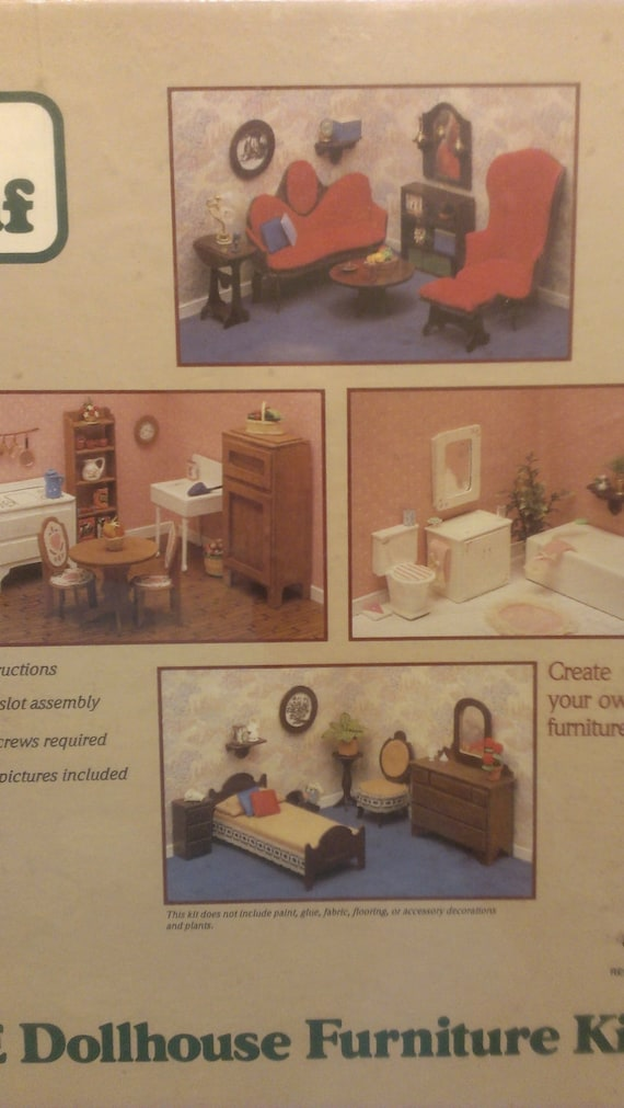 Dollhouse Furniture Wooden Kit Greenleaf By