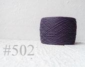 Linen crochet knitting weaving thread  - dark purple # 502