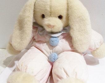 Vintage Dakin bunny rabbit stuffed toy - large vintage baby bunny toy - stuffed toy animal rabbit - vintage baby stuffed bunny rabbit toy