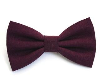 Plum Hair Bow - Plum Bow Tie - Plum Bows - Purple Hair Bow - Purple Bow Tie - Purple Bow