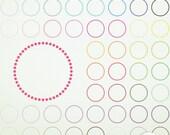 46 Digital Clip Art Polka Dot Circles- Clip Art ClipArt Scrapbooking Commercial Instant Download & Printable G7234