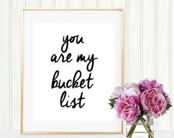 Bucket List Print