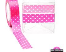"Hot Pink Polka Dots Washi Tape - 12-yard roll - Doodlebug ""Bubblegum""  Swiss Dots"