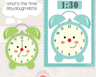 Wha'ts the time playdough mats - telling the time fun! AUTOMATIC DOWNLOAD