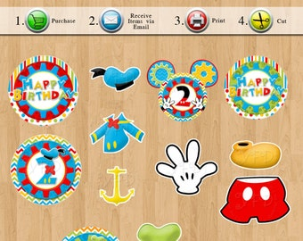 Mickey Mouse Clubhouse Centerpiece, Birthday Party Printables - Any Age, YOU PRINT