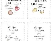 We Go Together Valentine Cards Multipack - Printable File