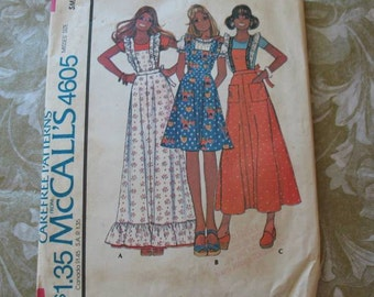 Vintage Pattern McCalls 4605 Pinafore Jumper Dress Small