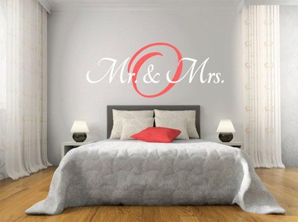 mr mrs wall decal master bedroom vinyl decal vinyl