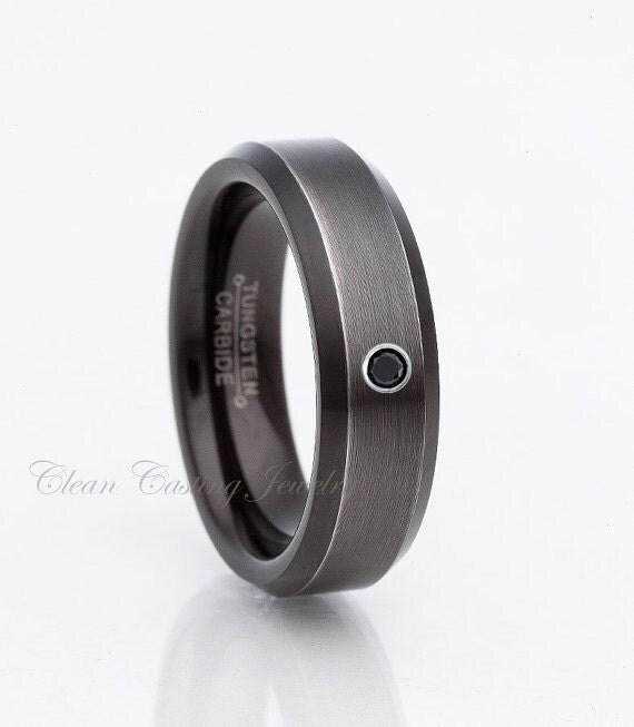 gunmetal tungsten wedding bandgunmetal by cleancastingjewelry