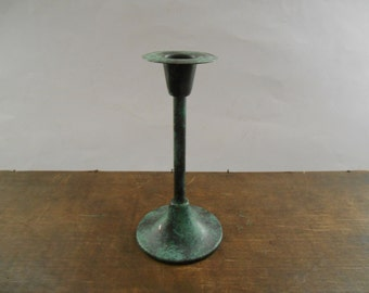 Vintage candle holder Green Shabby candle holder Holiday candle holder Cottage chic candle holder