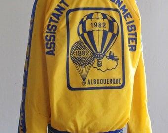 SALE 33% OFF: 1982 Albuquerque Balloon Fiesta Pilot Jacket