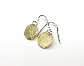 Earrings plate 12mm 333 gold + 925 Silver