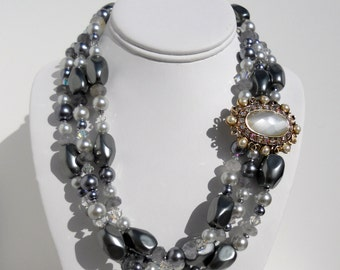 Melinda Silver and Sparkle Necklace