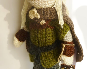 amigurumi art doll Inspired by Legolas from Lord of the Rings and The Hobbit.