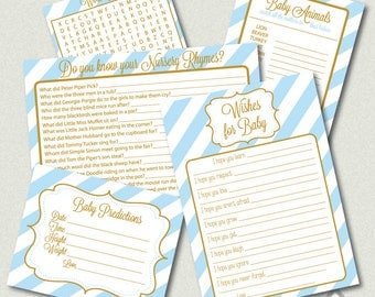 blue and gold baby shower games printable baby shower games boy baby