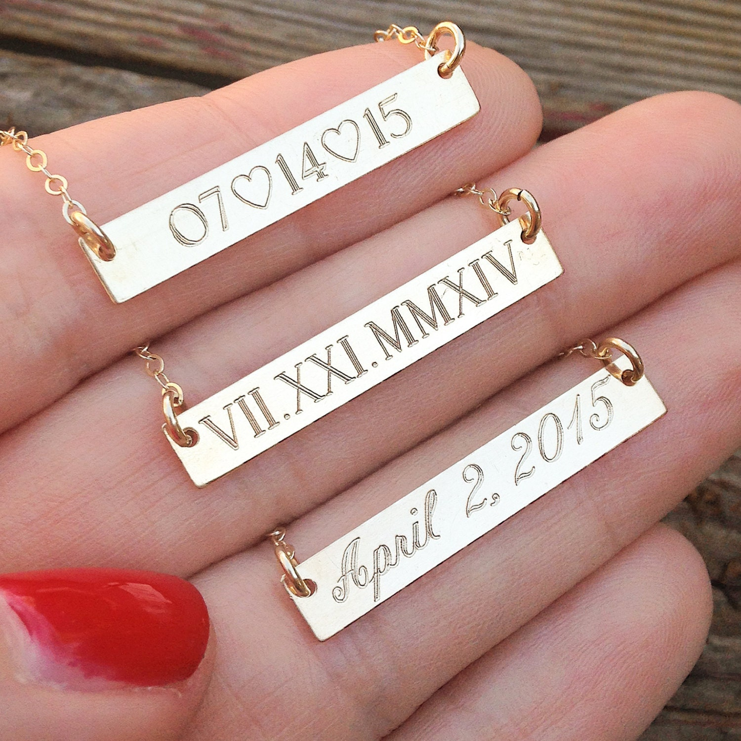 Roman Numeral Necklace Date Necklace Custom Roman By