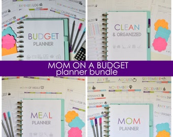 50% OFF Mom on a Budget Planner Bundle, Busy Mom Printable Planner, Budgeting, Cleaning, Meal Planning, Instant Download, Editable