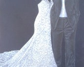 "11""x14"" Dress and Tux Drawing"